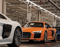 "Solar Orange Audi R8 ""Behind the Scenes"""