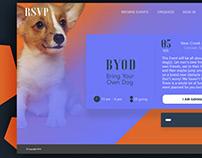 RSVP - Event website page - Adobe Design Challeng