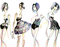 Decollete- Fashion Illustrations