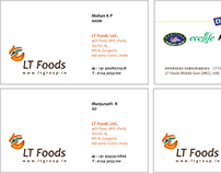 Visiting Card for LT Foods