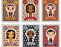 Firefly Stamp Series | 2D Design