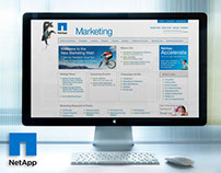 NetApp Re-brand: Marketing Intranet & WWW Visual Design