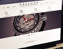 Website para representante de relógios de luxo.