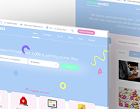 Website re-design | eLearning courses