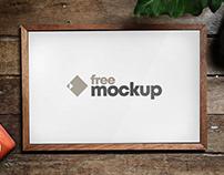 Horizontal Poster Frame Free Mockup