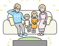 YKKAP 家族のイラスト