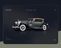 Vintage Car Landing Page