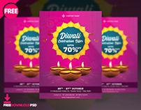 Diwali Sale Flyer Free PSD