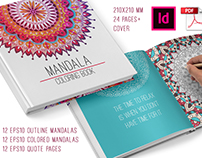 Mandala coloring book for adults.
