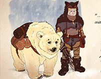 Ice Age Hunter. Character Design Project