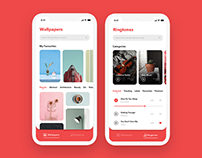 iOS app for Wallpapers/Tones