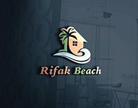 Rifak Beach Logo design