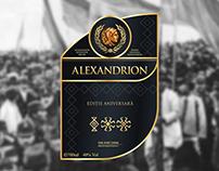 Alexandrion 100 - Anniversary Edition Label Design