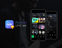 Muzk Premium UI Kit - for music apps