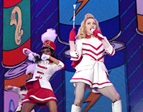 Illustrations for Madonna's MDNA Tour Screens