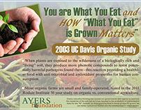 Ayers Foundation - Organic Awareness Table Tents