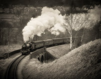 Keighley and Worth Valley Railway [monochrome]