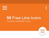 90 Free Line Icons