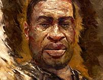 George Floyd portrait original painting one edition