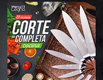 Spot Supermercados La Colonia cuchillos Percutti Legno