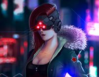 Ilustración Digital • Cyber Girl