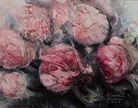 Õied / Blossoms 130 x 90 cm, aclylic on canvas 2018