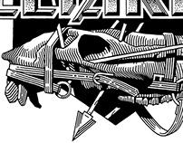 Free Parking Studio t-shirt print design