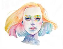 Watercolor portrait 02