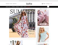 bote fashion Bulgarian landing page