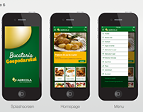 Agricola - recipe mobile app design