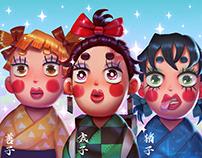Kimetsu Cute Girls Fanart