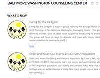 Baltimore-Wash. Counseling Center Website Redesign