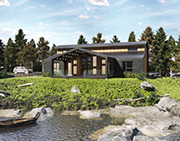Riverside House in USA | Architectural Visualization