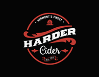 Harder Cider - vintage ad style Logo