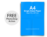 100% Free A4 Paper Mock Up Photoshop Action