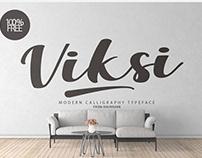Free Viksi Script Typeface 2018