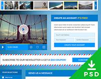 Freebie PSD: Travel UI Kit
