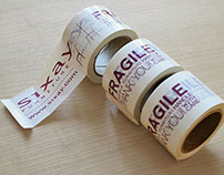 sixay furniture package tape design