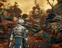 PBR Alien planet