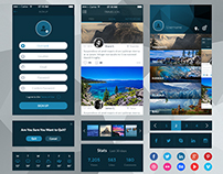 iOS Travel App Concept • Download Link