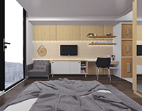 Studio apartment designed by Pfarrachman