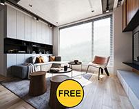 FREE Interior Scene Livingroom 340
