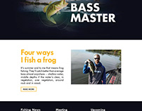 Bass Fishing Wordpress Landing Page