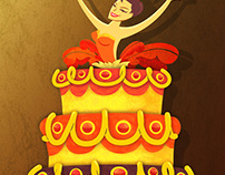 Showgirl in Cake