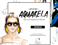 Ilustração de Moda - Oficina Aquarela