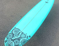 Déco longboard // COLLAB X Minvielle Surfboard