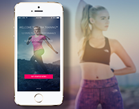 Ultra Training mobile app UI design + FREE PSD