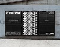 UNDESIGNED – boutique design studio identity & website