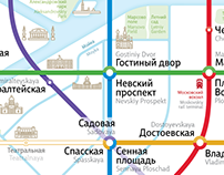 Saint-Petersburg Metro Map
