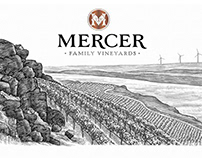 Mercer Wine Labels Illustrated by Steven Noble
